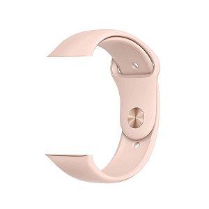 Pulseira de Silicone - Compatível com Smartwatch F10 - Rosa