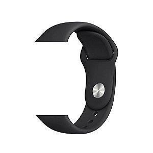 Pulseira de Silicone - Compatível com Smartwatch F10 - Preto