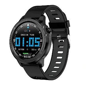 Relógio Smartwatch L8 - Preto com Cinza - IOS e Android