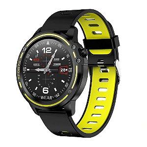 Relógio Smartwatch L8 - Preto com Verde - IOS e Android