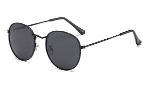 Óculos de Sol Feminino Vintage - Preto com Lente Preto
