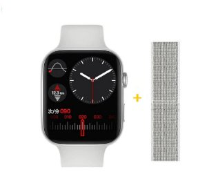 Relógio Smartwatch IWO FK88 - Tela Infinita - Branco - 44mm + Pulseira de Brinde