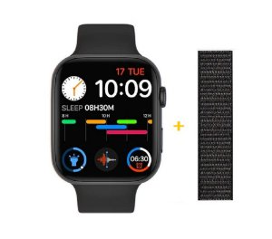 Relógio Smartwatch IWO FK88 - Tela Infinita Com GPS - Preto - 44mm + Pulseira de Brinde