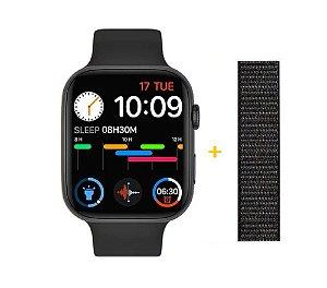 Relógio Smartwatch IWO FK88 - Tela Infinita - Preto - 44mm + Pulseira de Brinde