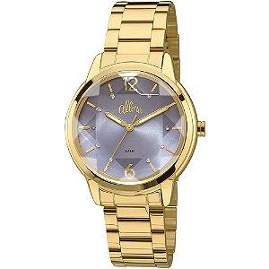 Relógio Allora Feminino Dourado com Detalhe Facetado - AL2036CJ/4A