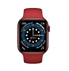 Relógio Smartwatch IWO 13 Tela Infinita - Vermelho - 44mm