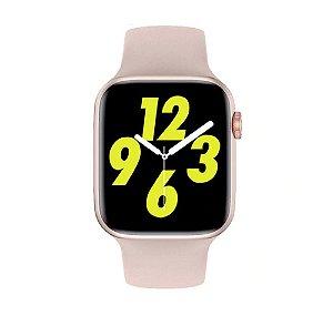 Relógio Smartwatch IWO W26 PRO - Rosa - Tela Infinita - IOS / Android - 44mm