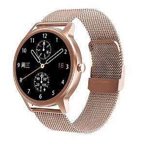 Relógio Eletrônico Smartwatch DT56 - Rosê Gold - Android / IOS
