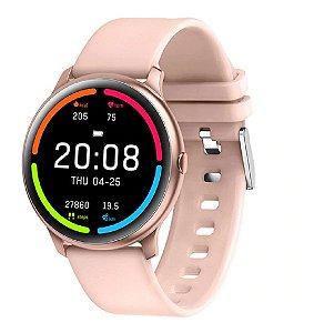 Relógio Eletrônico Smartwatch KW13 - Rosa - Android / IOS