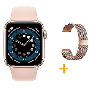 Relógio Smartwatch IWO 13 Tela Infinita - Rosa - 40mm + Pulseira Extra