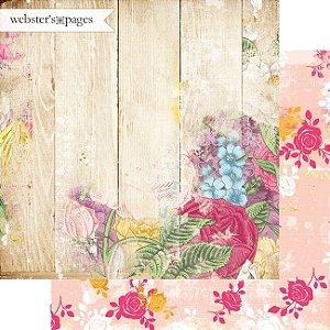 Papel Scrapbook - Dream in color - Life`s Garden - Webster