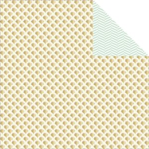 Papel Scrapbook - Nine & Co - Sunburst - com FOIL - Teresa Collins