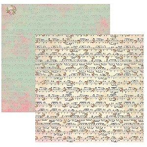 Papel para scrapbook - 30x30 Bailarina Pauta Bouquet - Toke e Crie