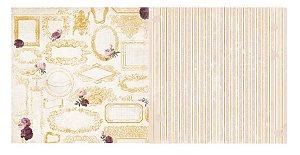 Papel Scrapbook - Rose Cafe Frames - Bo Bunny