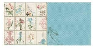 Papel Scrapbook - Garden Journal Notebook - Bo Bunny