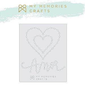 Gabarito de costura Coração-Amor - My Love - My Memories Crafts