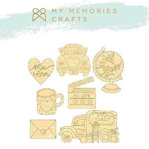 Apliques em MDF adesivados - My Love - My Memories Crafts