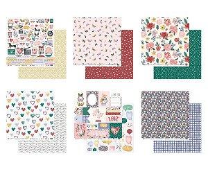 Kit 6 papéis 30,5 x 30,5 - My Love - My Memories Crafts