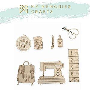 Apliques em MDF adesivados - My Crafts - My Memories Crafts