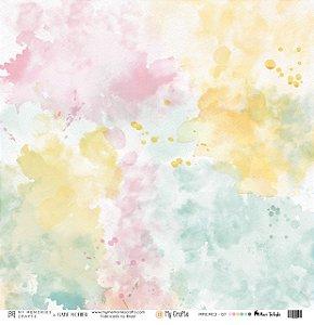 Papel vegetal 30,5 x 30,5 Aquarela - My Crafts - My Memories Crafts