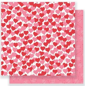 Papel para scrapbook - 30x30 Be Mine - Love is in the air - Pebbles
