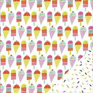 Papel para scrapbook - 30x30 Sunny - Ice Cream Parlor - Imaginisce