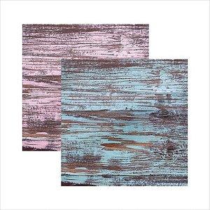 Papel para scrapbook - Texturas - Pátina marítima - Toke e Crie