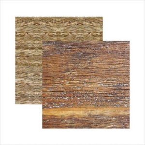 Papel para scrapbook - Texturas - Rústico - Toke e Crie
