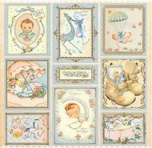 Papel para scrapbook - 30x30 Baby Boy- Arte Fácil