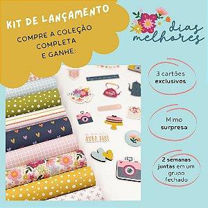 Kit de lançamento - Coleção Completa - Dias Melhores - Scrap Mimos - Litoarte