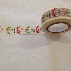 Washi tape Natal Merry Christmas - Importado
