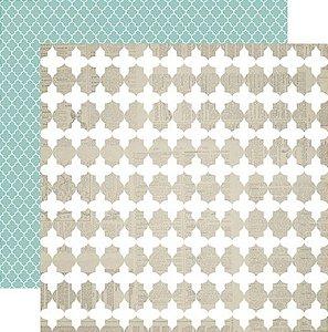 Papel Scrapbook - Memorabilia - Quatrefoil - Teresa Collins