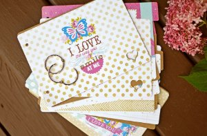Kit mini álbum chipboard Sweet Routine - Webster