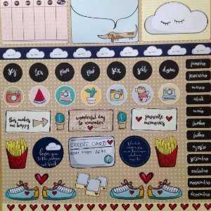Papel para scrapbook - 30x30 Clouds & Heart - Linha All Hearted - Goodies