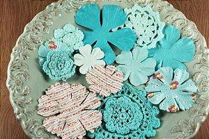 Flores artesanais Sweet Taffy Aqua - Prima