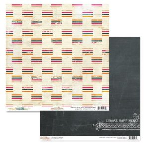 Papel Scrapbook - Uncharted Waters Stripe - Glitz