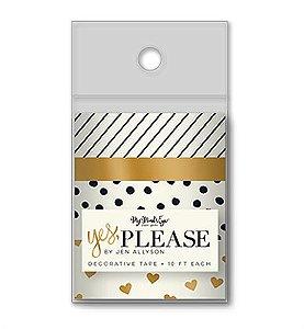 Kit de Fitas adesivas decorativa (Washi tape) Yes, please - MME