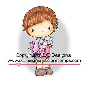 Carimbo - Lucy with Bunnies - C.C. Designs