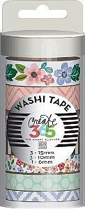 Kit de Fitas adesivas decorativa (Washi tape) WTT-03 Create 365 - Me & My Big Ideas