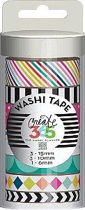 Kit de Fitas adesivas decorativa (Washi tape) WTT-01 Create 365 - Me & My Big Ideas