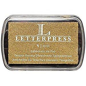 Carimbeira dourada Letterpress - We R