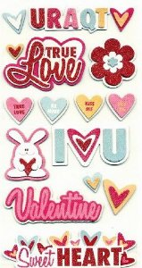 Adesivos chipboard Amor Heart Attack - We R