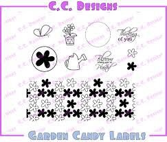 Carimbos de borracha - Garden Candy Labels - C.C Design