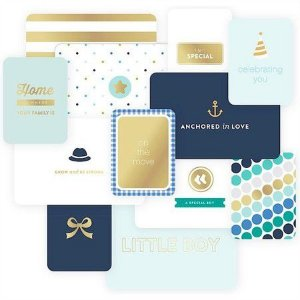 Cards Baby Boy - com FOIL - Project Life