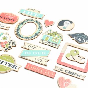 Die cuts em MDF Honey I`m Home - We R