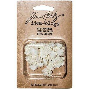 Mini flores de resina creme Heirloom - Tim Holtz