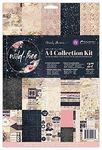 Bloco de papéis e adesivos A4 Wild + Free - Prima