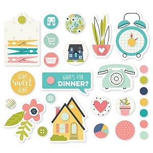 Bailarinas decoradas - Domestic Bliss - Simple Stories