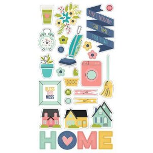 Chipboard adesivo Domestic Bliss -  Simple Stories