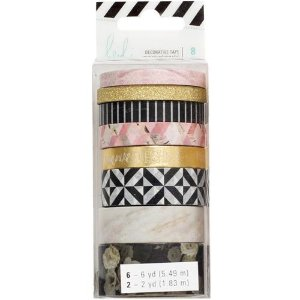 Kit de washi tape com 8 fitas - Heidi Swapp - American Crafts